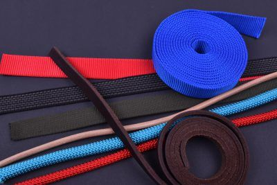 Webbing and leather