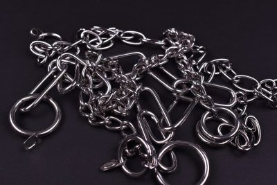 Chain collars stainless steel