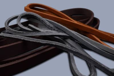 Oiled leather round cutted